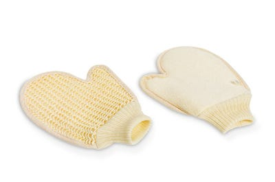 Massage-Handschuhe aus Sisal