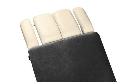 Liegen-Spannbezug 80 cm Breite ohne Kopfteil auf Liege, dark grey