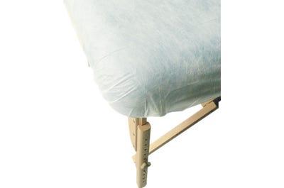 Liegenbezüge für PINO Koffer-Massagebänke weiß 10er Pack