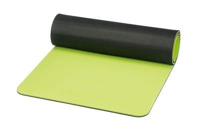 PINOFIT Gymnastikmatte lime & black